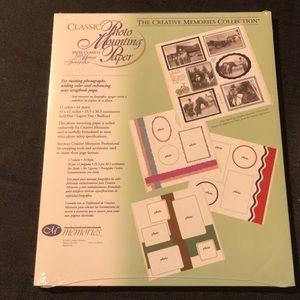 Creative memories photo mounting paper
